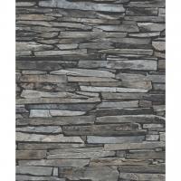 Rustieke stenen imitatie behang grijs