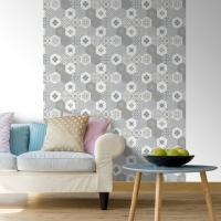 Tiles imitation wallpaper beige