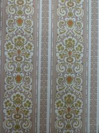 groen bruin dubbel medaillon vintage behang