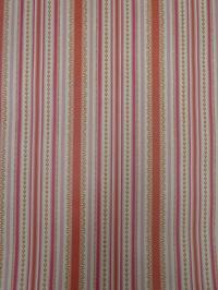papier peint vintage figure géometrique orange rose