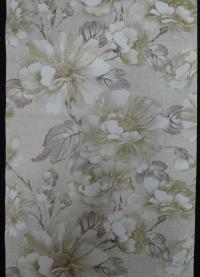 vintage bloemenbehang groen bruin goud