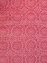 donkerrood geometrisch vintage behang