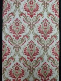 rood bruin medaillon vintage behang