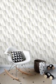 ESTA art deco wallpaper grey and mint green triangles