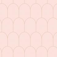 ESTA art deco wallpaper pink with golden arches