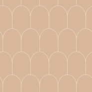 ESTA art deco wallpaper brown with white arches