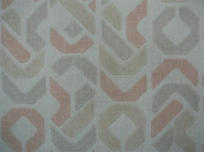 pink grey beige geometric figures in lines