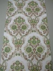 groen bruin bloemenmedaillon