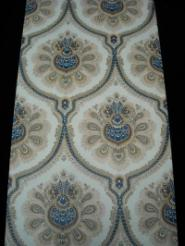 beige brown blue big medallion