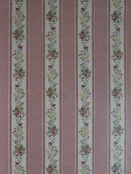 Vintage floral wallpaper with yellow and pink flowers