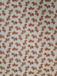 Vintage floral wallpaper with brown autumn leaves