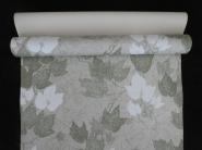 Papier peint vintage avec feuilles de lierre blanc et vert