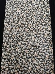 Vintage behang met kleine witte en beige bloemetjes
