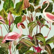 Luxebehang Beverly Hills Flamingo Munt