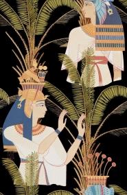 Egyptische koninginnen behang