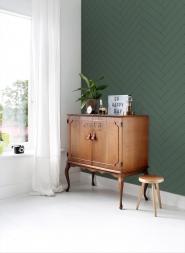Papier peint chevrons vert foncé-noir