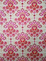 rood roze  medaillon vintage behang