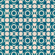 Luxebehang Aegean Tiles turks blauw