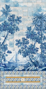 Luxebehang Azure Mural