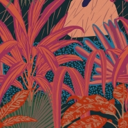 Papier peint de luxe Jardin Imaginario foncé