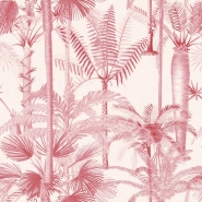 Papier peint de luxe Palmera Cubana rose