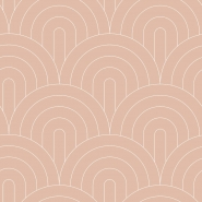 Dark pink with white arches art deco wallpaper