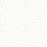 Wit met gouden bogen art deco behang