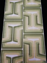papier peint vintage figure géometrique lignes vert