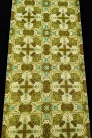 Green beige vintage geometric wallpaper