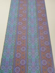 Purple, green and brown vintage geometric wallpaper