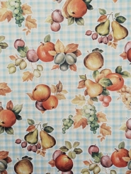Fruity vintage geometric wallpaper