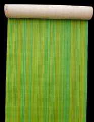 Papier peint vintage geometrique lignes verticales vertes
