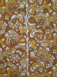 Brown and yellow vintage geometric wallpaper