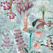 Premium wallpaper Garden of Eden aquamarine