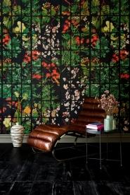 Papier peint de luxe Jardin de Japon noir