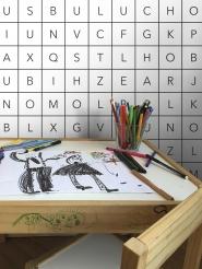 LAVMI behang Alphabet wit