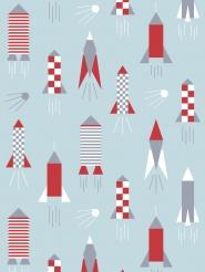 LAVMI wallpaper rocket light blue