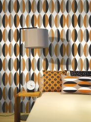 LAVMI wallpaper Ficus brown black grey geometric figure