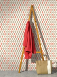 LAVMI wallpaper Lentils beige and red waves