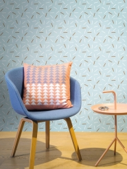 LAVMI wallpaper Matches white and brown lines on a blue background