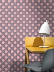 roze geometrische figuur op een paarse achtergrond