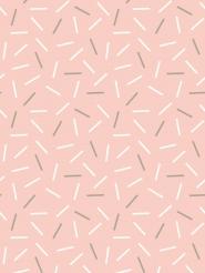 witte en grijze streepjes op een roze achtergrond