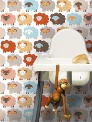 papier peint pour enfants moutons LAVMI