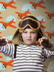 papier peint pour enfants avion LAVMI