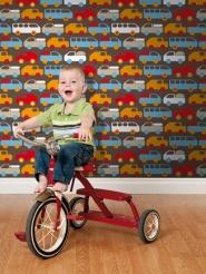 papier peint pour enfants voiture camion bus LAVMI Bruno