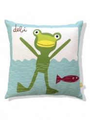 coussin pour enfants grenouille nage
