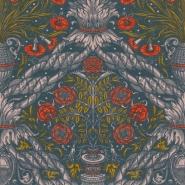 Premium wallpaper Floral Ornament scarlet