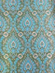 grande médaillon bleu vert beige