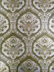 Green silver damask vintage wallpaper