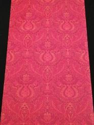 Red floral damask vintage wallpaper